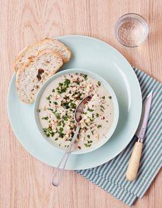 soupe d'artichaut persil noisettes