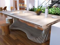 Parametric table by WonderfoolForest on Etsy