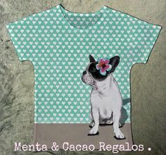 Camiseta ilustración bulgdog