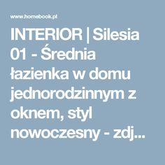 INTERIOR | Silesia 01 - Średnia łazienka w domu jednorodzinnym z oknem, styl nowoczesny - zdjęcie od Manufaktura Projektów