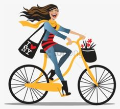 Cycle Clipart Bike Riding Girl With Bicycle Transparent Background Free Transparent Png Download Pngkey Girl Bike Illustration Bike Illustration Bicycle