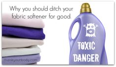 Fabric softener is one of the most toxic things in your home! Ditch for these natural alternatives.