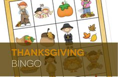 FUN Thanksgiving BINGO! Fun Thanksgiving dinner game!