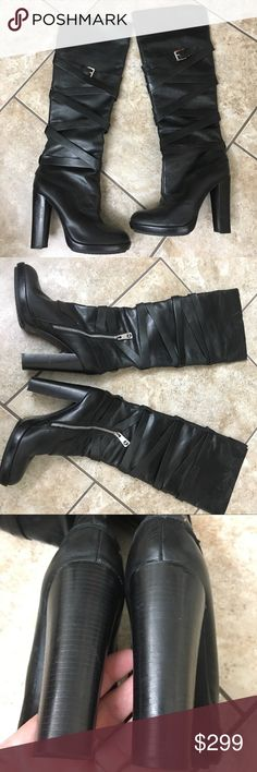 "Michael Kors Leather Knee High Boot 7M. Gorgeous Knee High Boots from MK Michael Kors. Leather 4.5"" heel.   21"" from top of Boot to floor.   Side zip entry.    Excellent almost new boots.  Perfect for jeans or Skirts. MICHAEL Michael Kors Shoes Heeled Boots"