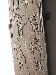 Fantastic beasts on a cross-slab from Papil, Shetland Irish Tattoos, Wing Tattoos, Celtic Tattoos, Sleeve Tattoos, Celtic Patterns, Celtic Designs, Celtic Symbols, Celtic Art, Scotland History