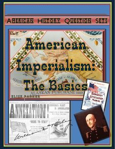 "Another installment in the popular ""American History Question Sets"" series. This time: American Imperialism worksheets. Easy print PDF file, easily corrected multiple choice problems. Includes both basic and advanced levels for differentiated instruction. Covers Alaska, Hawaii, Mahan, and the motivations behind U.S. imperial ambitions in the first place! A great intro to the topic or review activity after textbook study!"
