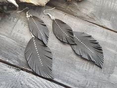 Extra long bohemian earrings. Boho earrings. by VelmaJewelry