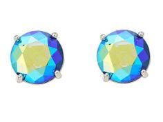 Fossil Sapphire Tone Iradecent Stud Earring