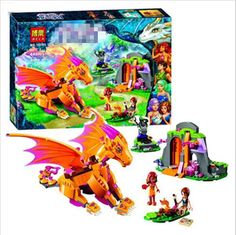 New Bela 10503 446Pcs Friend Elves Fire Dragon's Lave Cave Model Building Kit Minifigure Blocks Lepin Bricks Girl Toy 41175 P645 #>=#>=#>=#>=#> Click on the pin to check out discount price, color, size, shipping, etc. Save and like it!