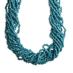 Carolyn Pollack Sterling Silver Blue Turquoise Ten Strand Torsade Necklace >>> Check out this great product. (This is an affiliate link) #Necklaces