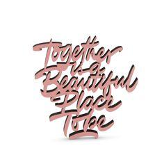 """Der 3D Schriftzug """"Together is a beautiful place to be"""" – ein ganz individuelles Geschenk für einen besonderen Menschen in Deinem Leben, ein persönliches Dekorationsstatement oder einfach ein schöner Spruch. Statements, Montage, Wooden Signs, Decorative Items, Unique Gifts, Beautiful Places, Etsy Shop, 3d, Motivation"""