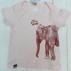 100% Organic Cotton Baby T-shirt, printed by hand in Antwerp, Belgium