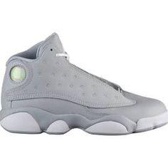 04aaac3e5166 Girls Jordan Retro 13 - Preschool Basketball Shoes Wolf Grey Size 2.5