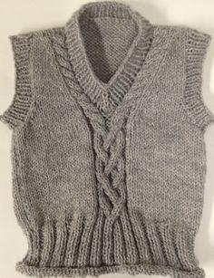 Handmade Knitted Baby Sweater Vest by handmadebymellon on Etsy, $22.00