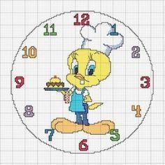 Relojes en punto de cruz