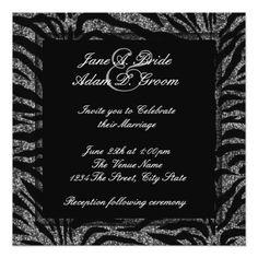 Shop Elegant Black and White Zebra Wedding Invitation created by WeddingCentral. Zebra Wedding, Referral Cards, White Zebra, Elegant Wedding Invitations, Zazzle Invitations, White Envelopes, Wedding Cards, Wedding Decorations, Wedding Ideas