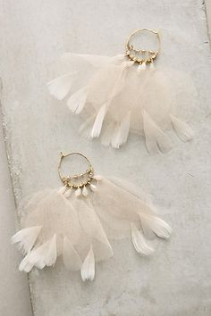 Feathered Tulle Earrings (INSPIRATION ONLY)