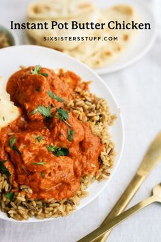 Best Easy Dinner Recipes, Easy Chicken Recipes, Instant Pot Butter Chicken Recipe, Recipe Using Chicken Breasts, Indian Food Recipes, Ethnic Recipes, Fast Easy Meals, Gluten Free Chicken, Weeknight Meals