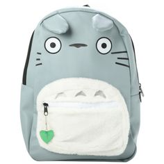 Studio Ghibli My Neighbor Totoro Character Backpack | Hot Topic (42 AUD) ❤ liked on Polyvore featuring bags, backpacks, mochilas, leather backpack bag, strap backpack, ghibli, white leather bag and leather strap backpack