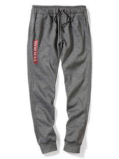 YUNY Mens Running Pants Lounge Stitch Workout Summer Harem Casual Pants Black M