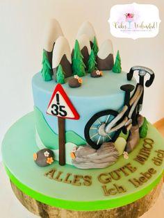 Mountain biking hobby cake