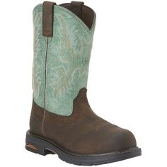 10015405 Ariat Women's Tracey Pull on Safety Boots - Brown www.bootbay.com