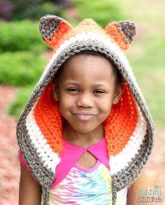Crochet Fox Bonnet by Busting Stitches - FREE crochet pattern!