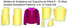 moldes de sudadera infantil con capucha Fashion, Shirtdress, Dress Pants, Girls Dresses, Dress Patterns, Sewing Patterns, Toddler Cowl, Moda, Fashion Styles
