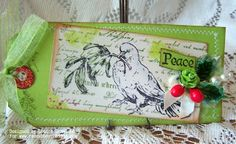 Kard Krazy - beautiful tag, love the green color.