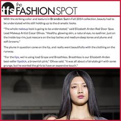 """""""Glowing skin, a natural eye, liner just on the inside top rim and mascara on the top lashes...""""  Just the #RedDoorSpa team's look last week for Brandon Sun's #NYFW show, and one we're happy to help you try out because we know the world is your runway!"""