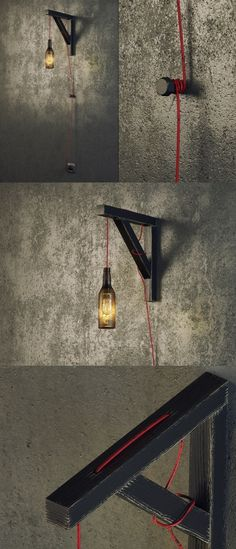 Iskren Marinov's Industrial Wall Lamp is one the dudes will love. It has a tough…