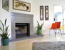 Mid Century Modern Fireplace Fireplace Surrounds California Concrete Designs Anaheim, CA