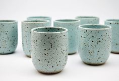 Ice Blue Speckled Tumbler – Pottery Cup – Ceramic Cup – Ceramics and Pottery – C… - Beginner pottery Ceramic Clay, Stoneware Clay, Earthenware, Glazes For Pottery, Ceramic Pottery, Pottery Art, Pottery Mugs, Beginner Pottery, Pottery Ideas For Beginners