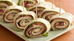 These clever roll-ups, great for appetizers or a quick snack, use prepared dressing and deli items to go together fast.