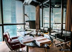 Avia Leasing Office with Herman Miller Eames soft pad chair