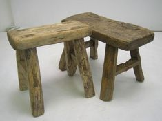 Small Wooden Rustic Stools