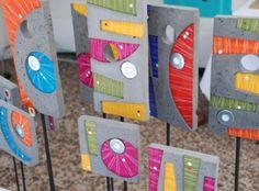 TUTORES DE CEMENTO - Buscar con Google Pasta Piedra, Art Projects, Projects To Try, Workshop, Concrete Art, Fimo Clay, Scottie, Stone Art, Yard Art