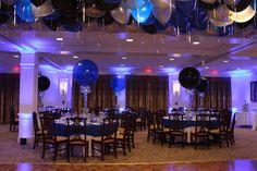 Blue & Black Balloon Centerpieces Blue & Black Balloon Centerpieces for Ski Themed Bar Mitzvah