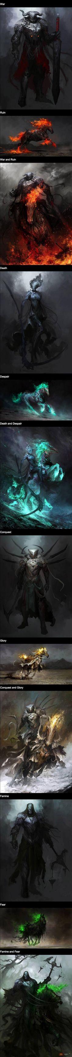 Czterej jeźdźcy apokalipsy by Daniel Karamudin