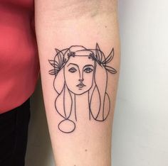 Simple Picasso tattoo by Craigy Fkn Lee