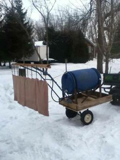 A little homemade zamboni for the ODR. What a Beauty! Backyard Hockey Rink, Outdoor Rink, Ice Rink, Ice Hockey, Vacation Ideas, Projects To Try, Cabin, Homemade, Cool Stuff