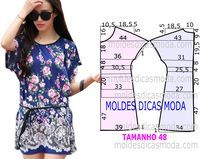 """How to sew blouses and dress. ♥ Deniz ♥ """"♥ moldes blusa♥ Más Clothing Patterns, how to cut and make beautiful blouses, via"""", """"Blue peasant blouse off Sewing Dress, Diy Dress, Blouse Patterns, Clothing Patterns, Sewing Patterns Free, Sewing Tutorials, Design Patterns, Free Pattern, Robe Diy"""