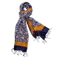 Natural Silk Wrap 25x70 Navy, $55, now featured on Fab.