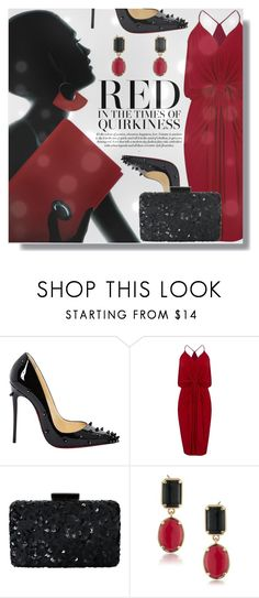 """""""Too GLAM to give a Damn"""" by xwafflecakezx ❤ liked on Polyvore featuring Christian Louboutin, MISA Los Angeles, Oscar de la Renta and 1st & Gorgeous by Carolee"""