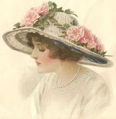roses on hat by in pastel, via Flickr