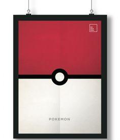 Pôster/Quadro minimalista  Pokemon