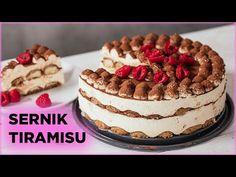 Przepis na SERNIK TIRAMISU bez pieczenia! Najlepszy na świecie! | Sugarlady - YouTube Cake Cookies, Cooking Recipes, Ethnic Recipes, Youtube, Chef Recipes, Youtubers, Youtube Movies, Recipies