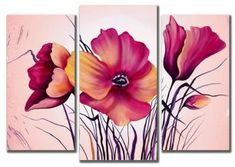 Multi Canvas Painting, 3 Piece Canvas Art, Canvas Wall Art, Butterfly Art, Flower Art, Donna Dewberry Painting, Feather Wallpaper, Triptych Wall Art, Art Pictures