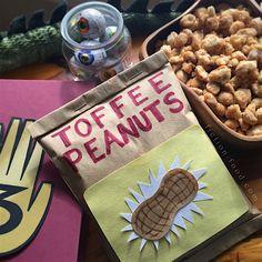 "Fiction-Food Café: Toffee Peanuts | ""Gravity Falls"""