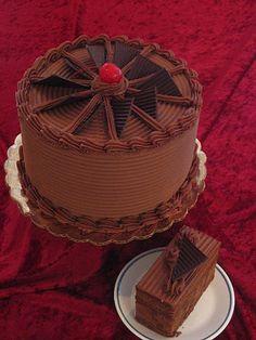 Fudge Cake with sour cream